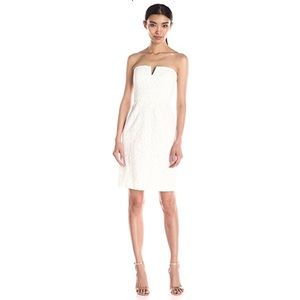 """NWT—""""Donna Morgan"""" Strapless Lace Dress"""